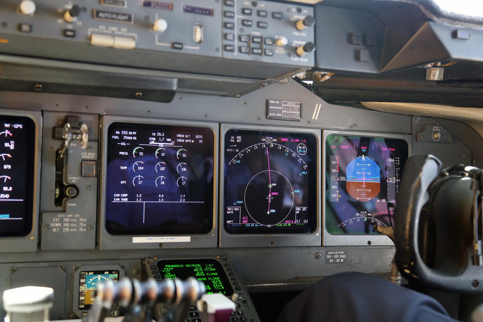 Cockpit MD 11 Freighter- Cockpit