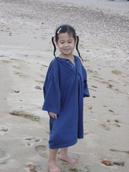 Coco am Strand