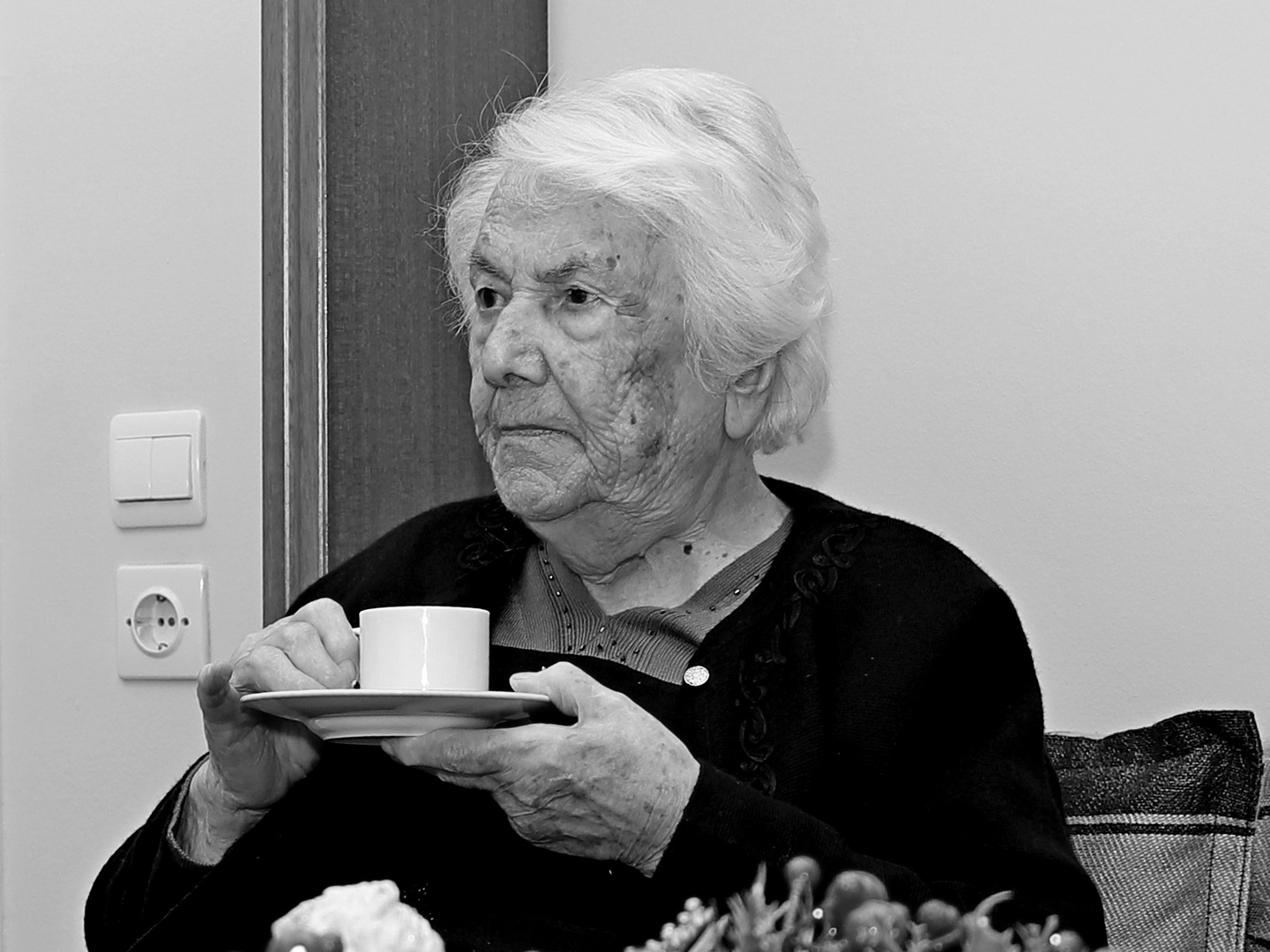 Coffee time with Great grandmother