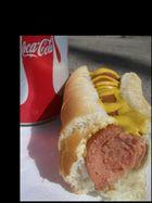 coke + hot dog