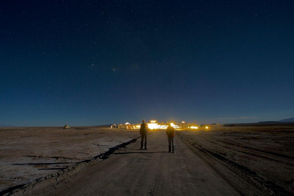 Colchani bei Nacht
