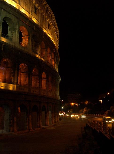 Coliseum in fire