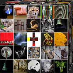 Collage 64.1. Alle Bilder in der Schachtel