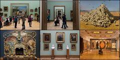 Collage aus der Tretjakow-Galerie (2)