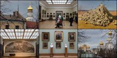 Collage aus der Tretjakow-Galerie