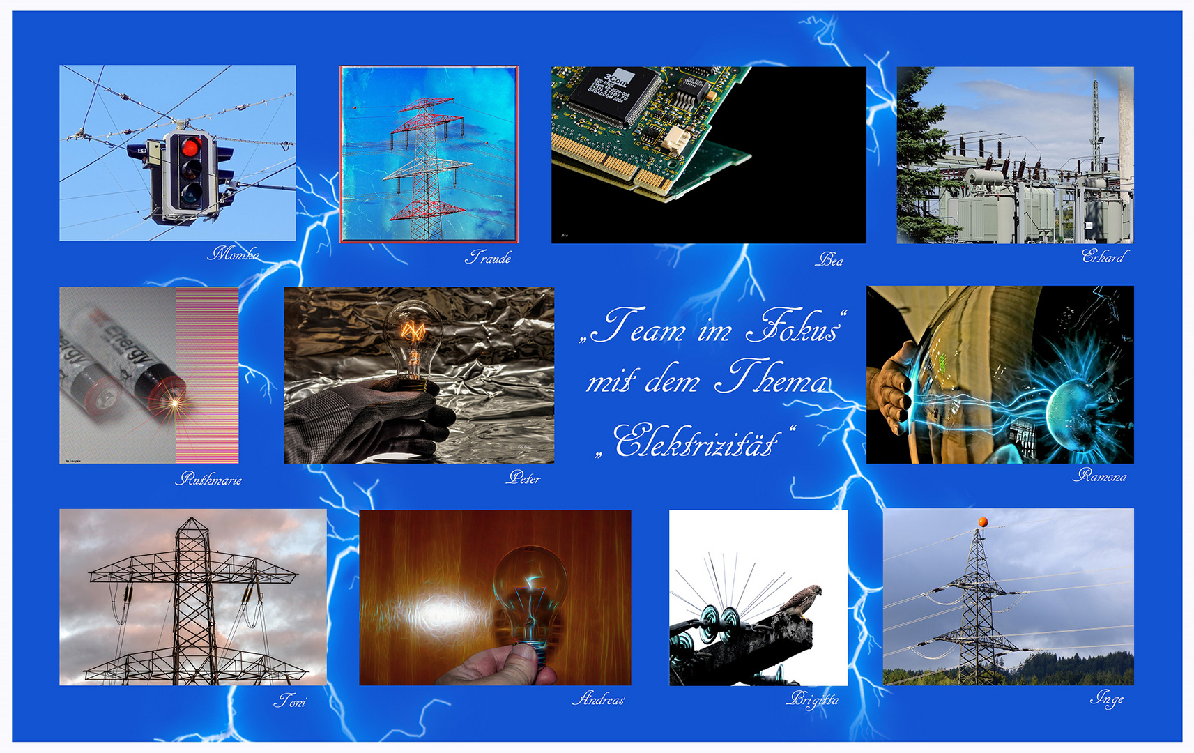 "Collage ""Elektrizität"""