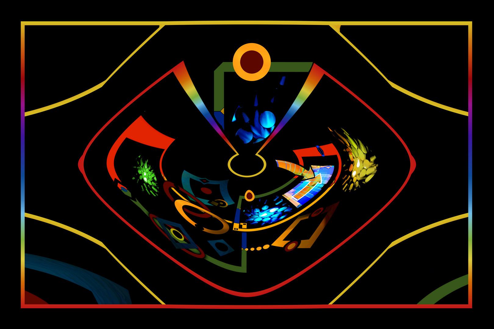 Collage Formen und Farben - Version 14