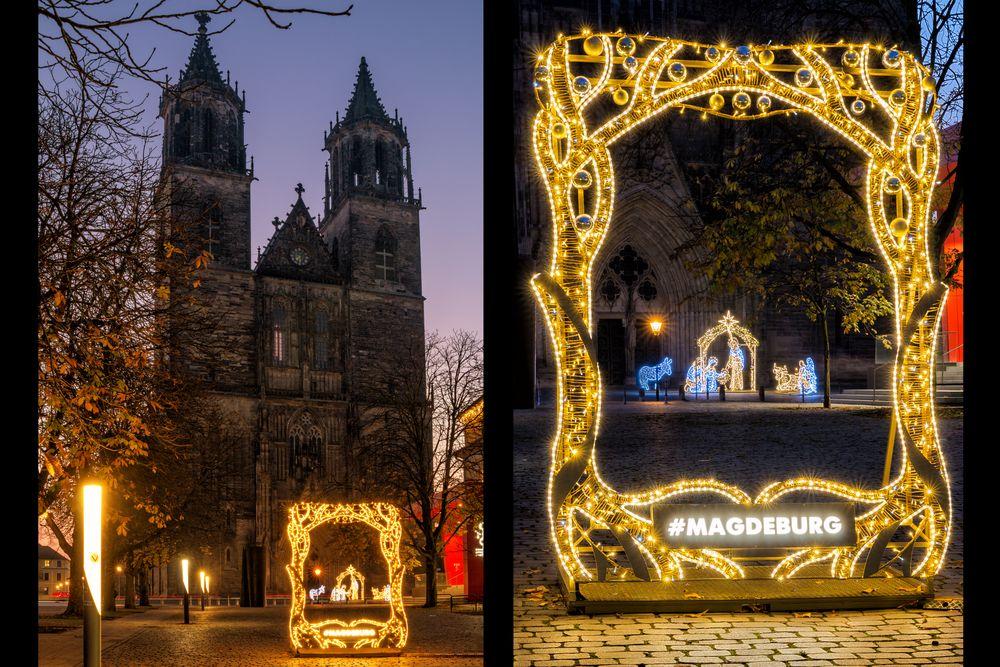 Collage Lichterwelt vor dem Dom