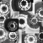 Collage magischer Augen S/W