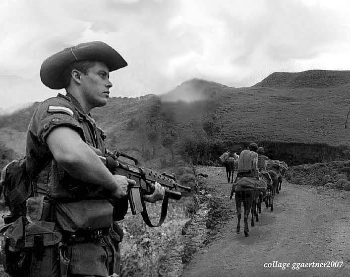 collage: Mulas en el Paramo Una Guerra Perdida