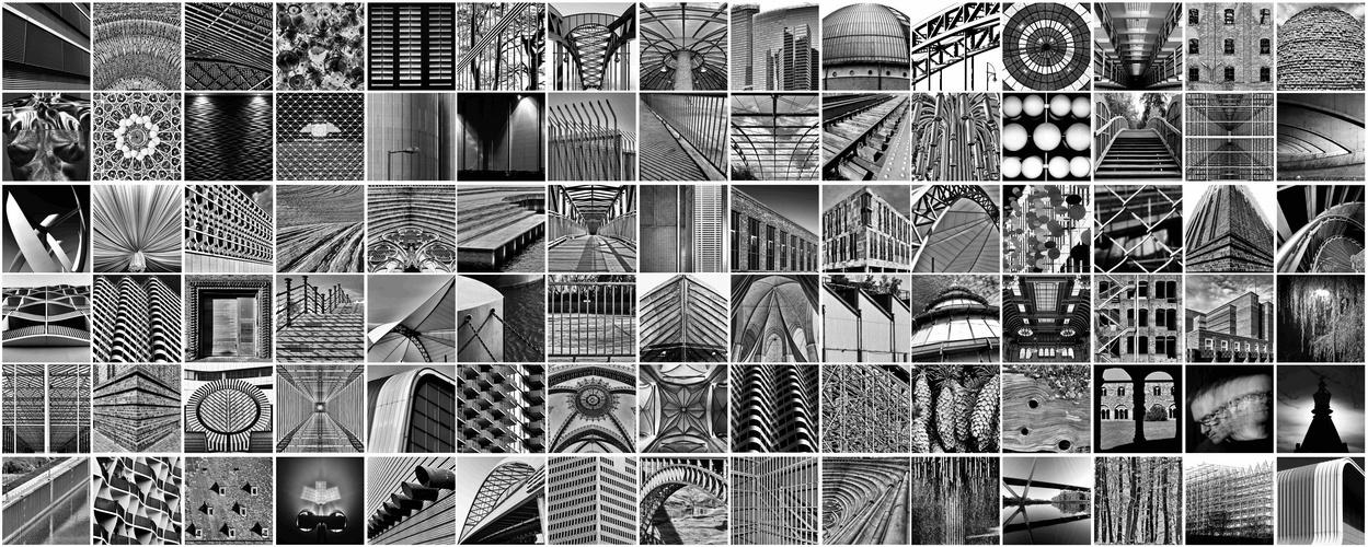 Collage-Schwarzweiss
