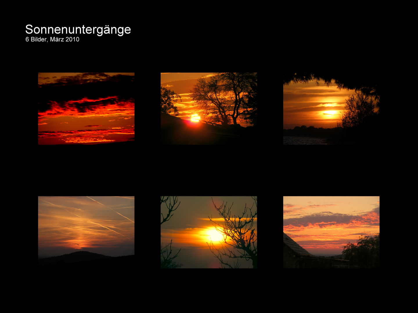 Collage-Sonnenuntergänge 1