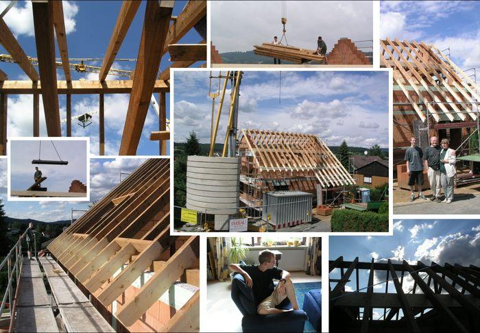 Collage vom hausbau foto bild lieblingsphotos bilder for Hausbau bilder