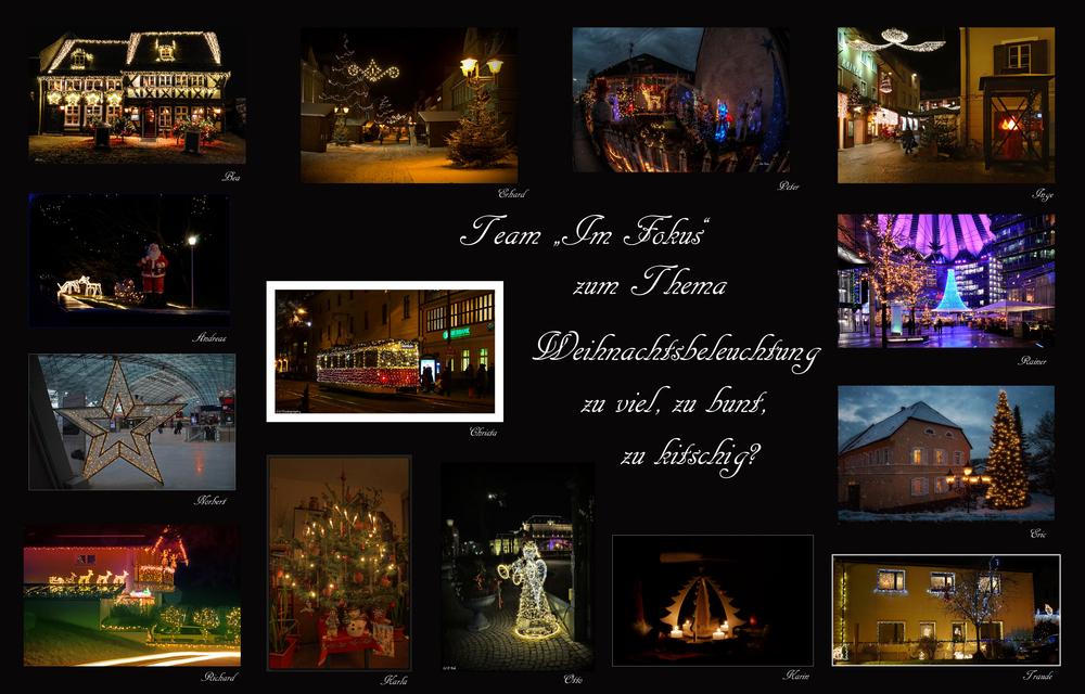 Weihnachtsbeleuchtung Bunt.Collage Weihnachtsbeleuchtung Zu Viel Zu Bunt Zu Kitschig Foto