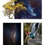 """Collage zu """"Sterne greifen"""""""