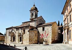 Collégiale de San Quirico (St Cyr)dans le val d'Orcia
