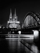 Cologne Dom by night B&W
