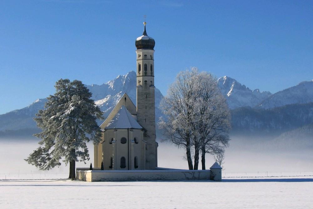 Colomanskirche im Wintergewand!