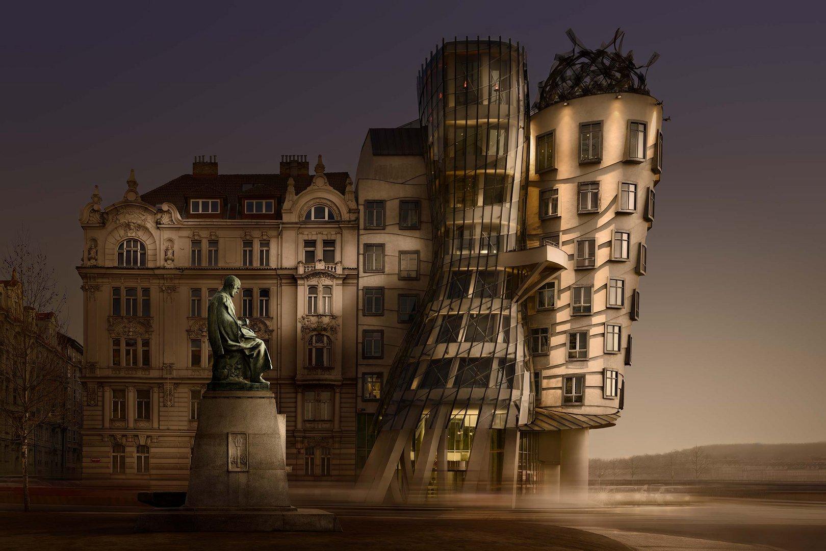 Color Version. Prague Building.