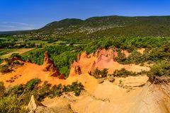 Colorado von Rustrel 1, Vaucluse, Provence, Frankreich