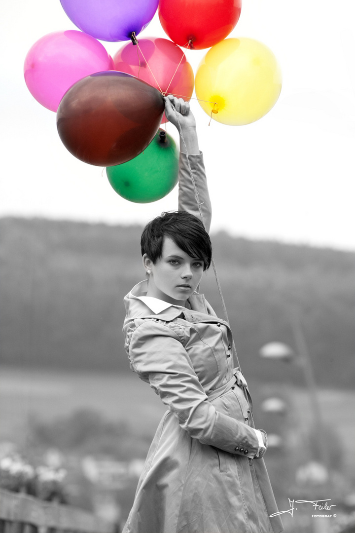 Colored ballons
