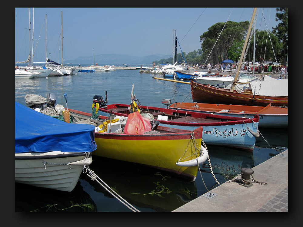 Colorful boats in Lazise