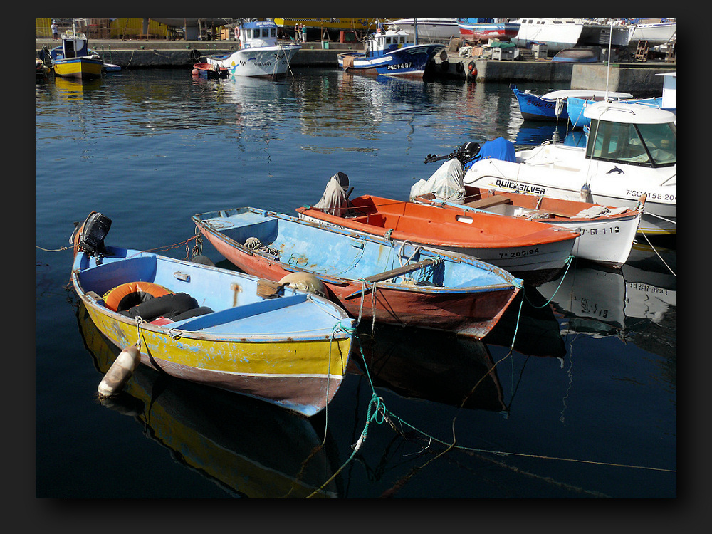 Colorful boats in Puerto de Mogan