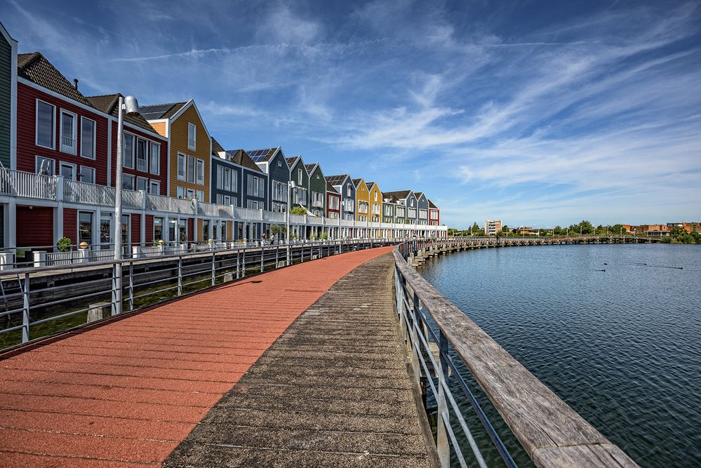 colorful wooden houses