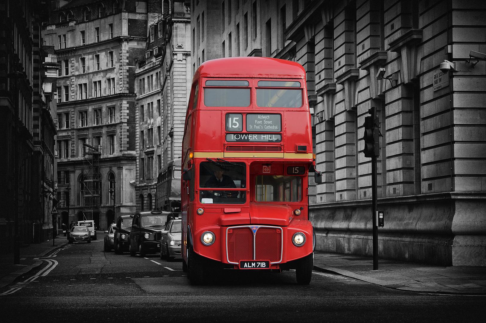 colorkey london bus foto bild city london world bilder auf fotocommunity. Black Bedroom Furniture Sets. Home Design Ideas