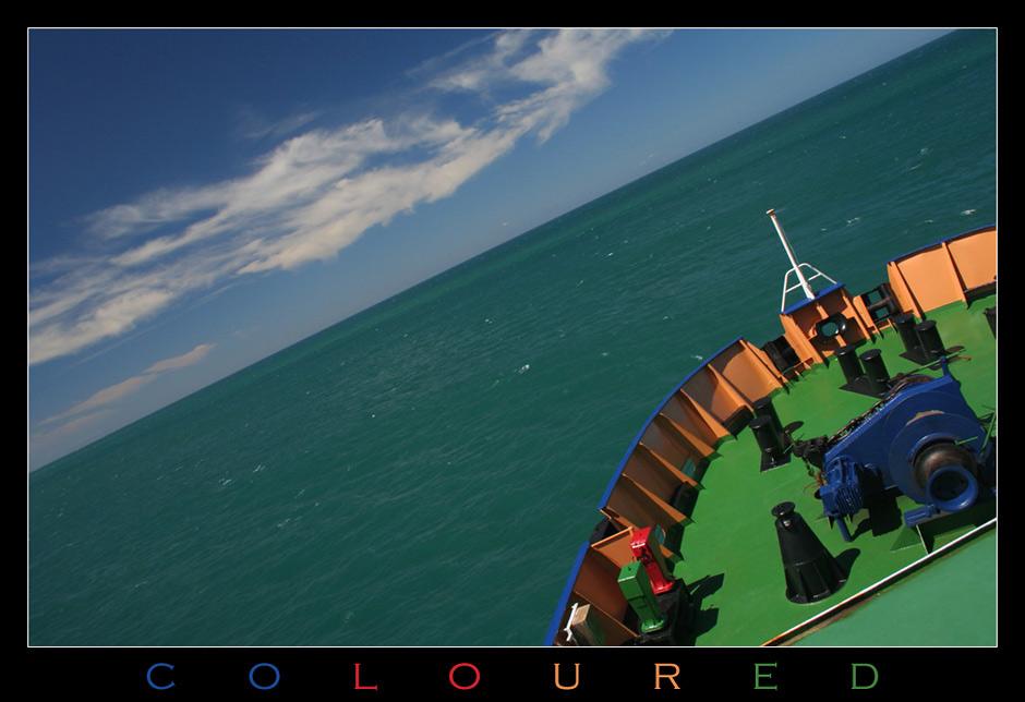 * coloured *