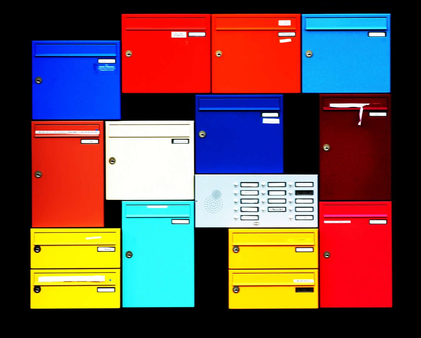 coloured mailboxes