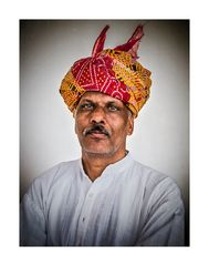 coloured turban ...