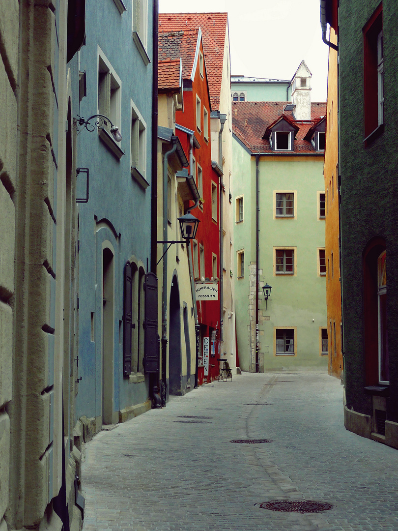 Colourful lane