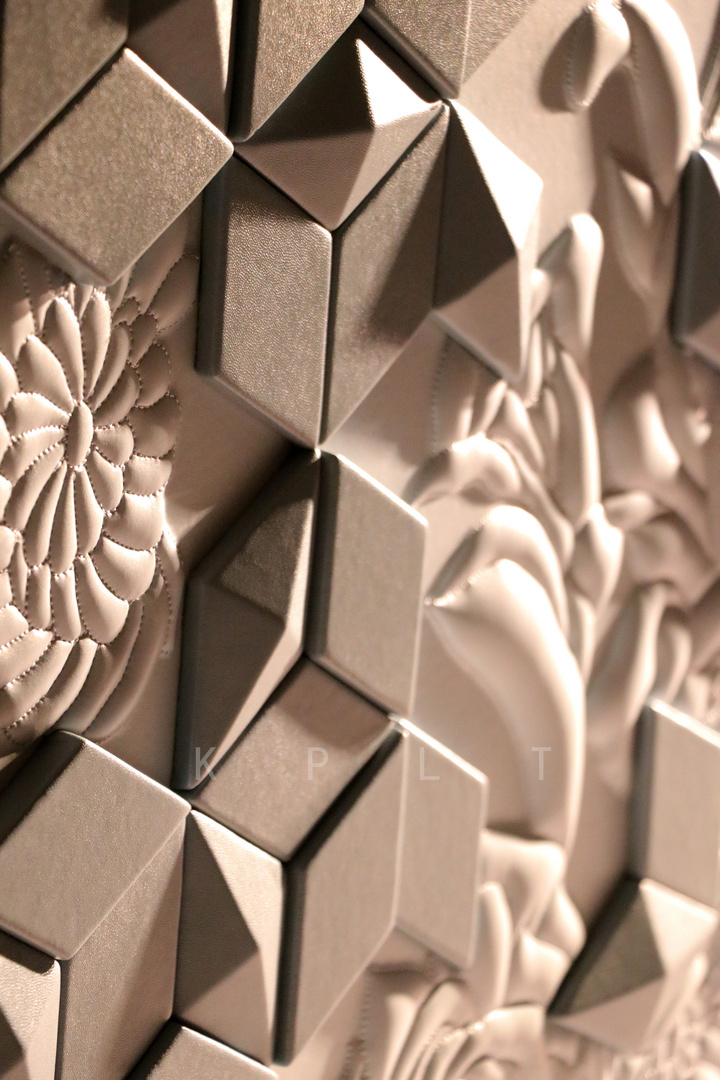 Combination of leather carving