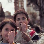 Comer helado en Rosario