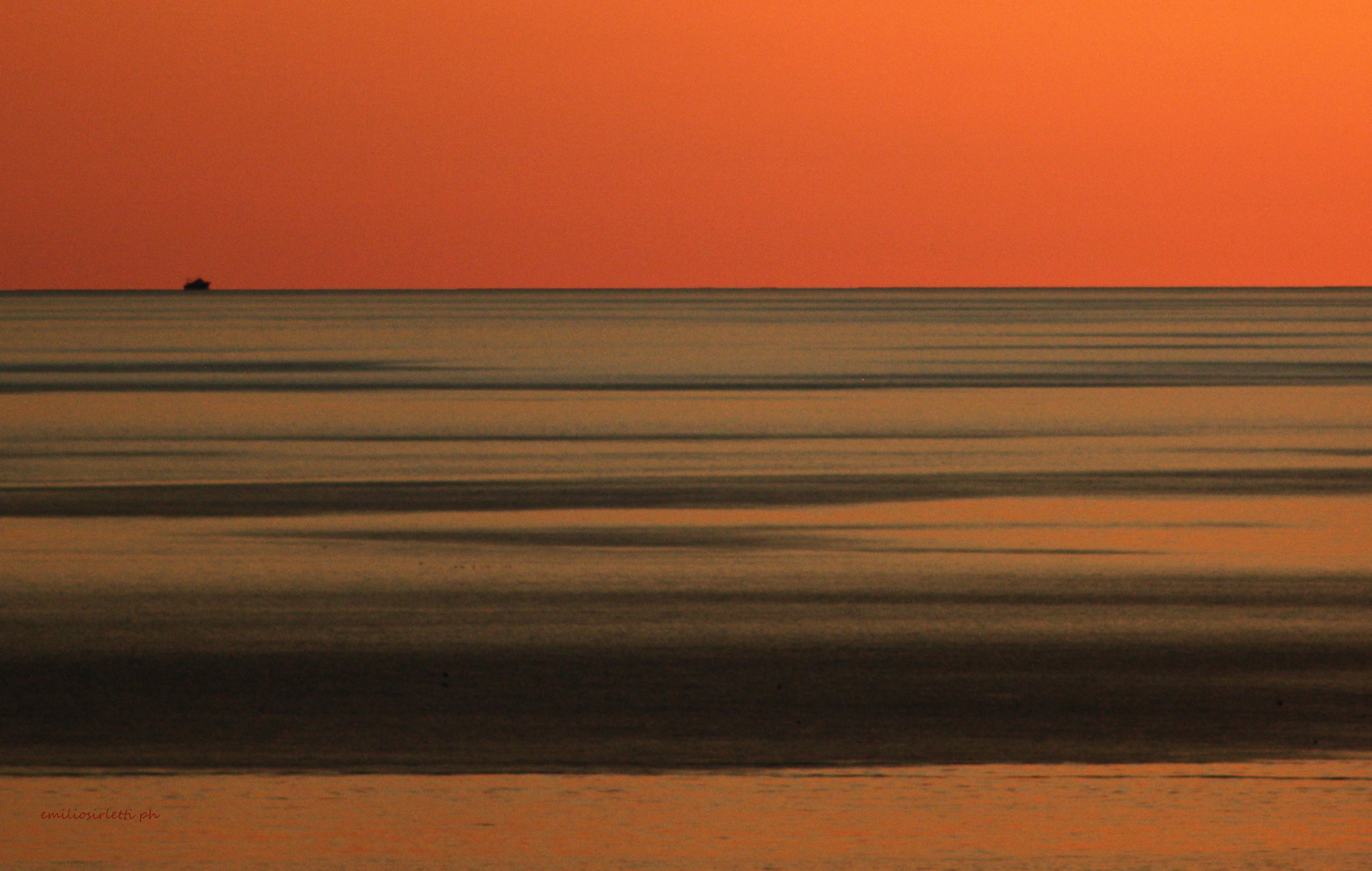 Comme est grande la mer...  Come è grande il mare....