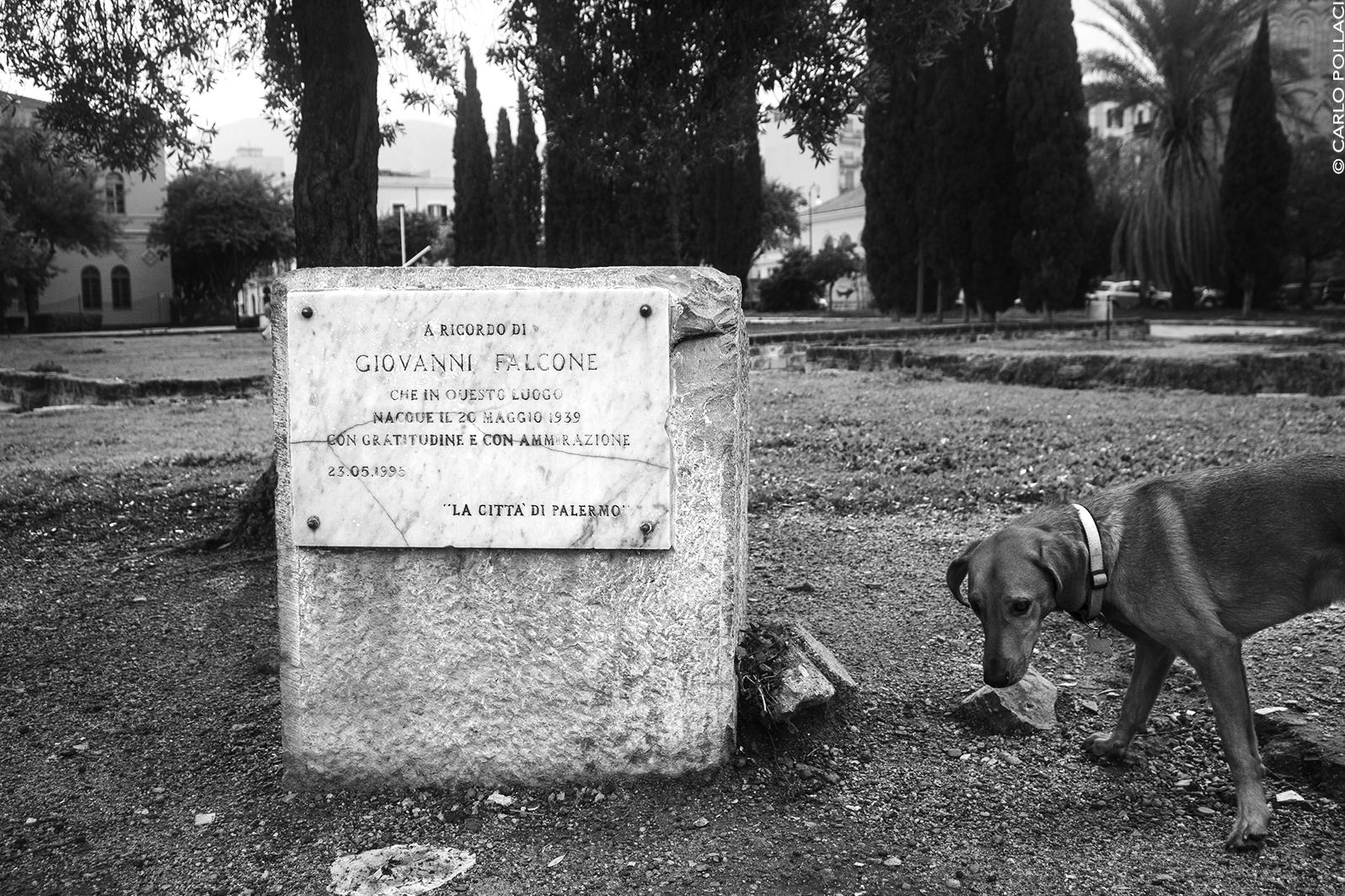 Commemorative plaque in memory of Giovanni Falcone