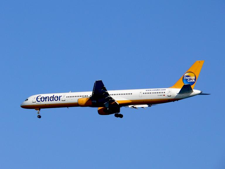 Condor im Anflug auf Heraklion