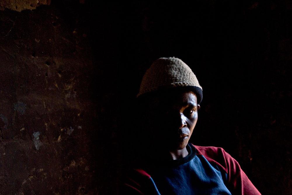 Congolesische Frau in namibanischen Fluechtlingscamp