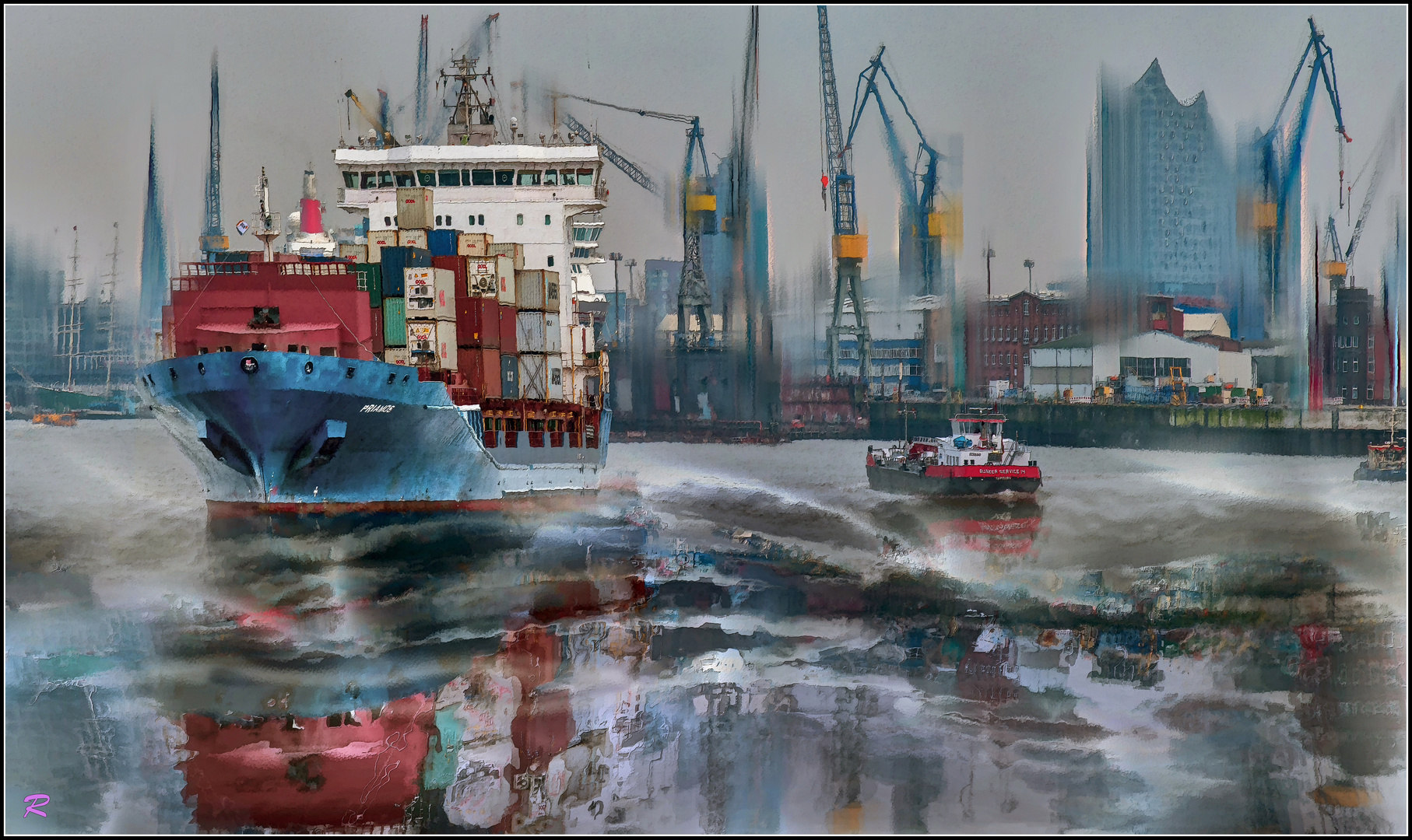 Container-Frachter PRIAMOS in Hamburg