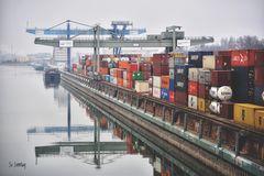 Container-Hafen Mannheim