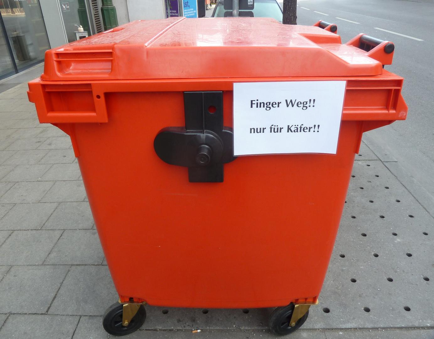 Container nur für Käfer