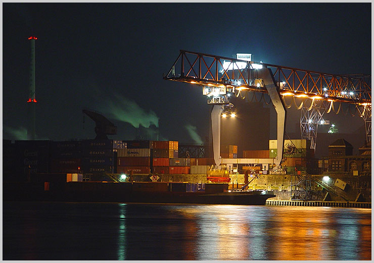 Container Shipping @ Night