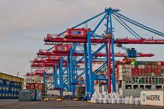 Containerbrücken im Einsatz