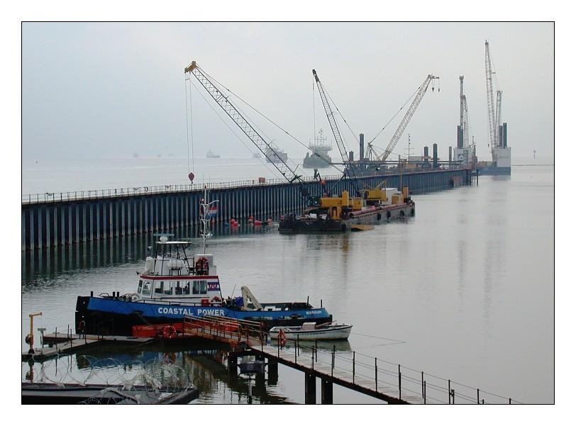 Containerhafen - Baustelle