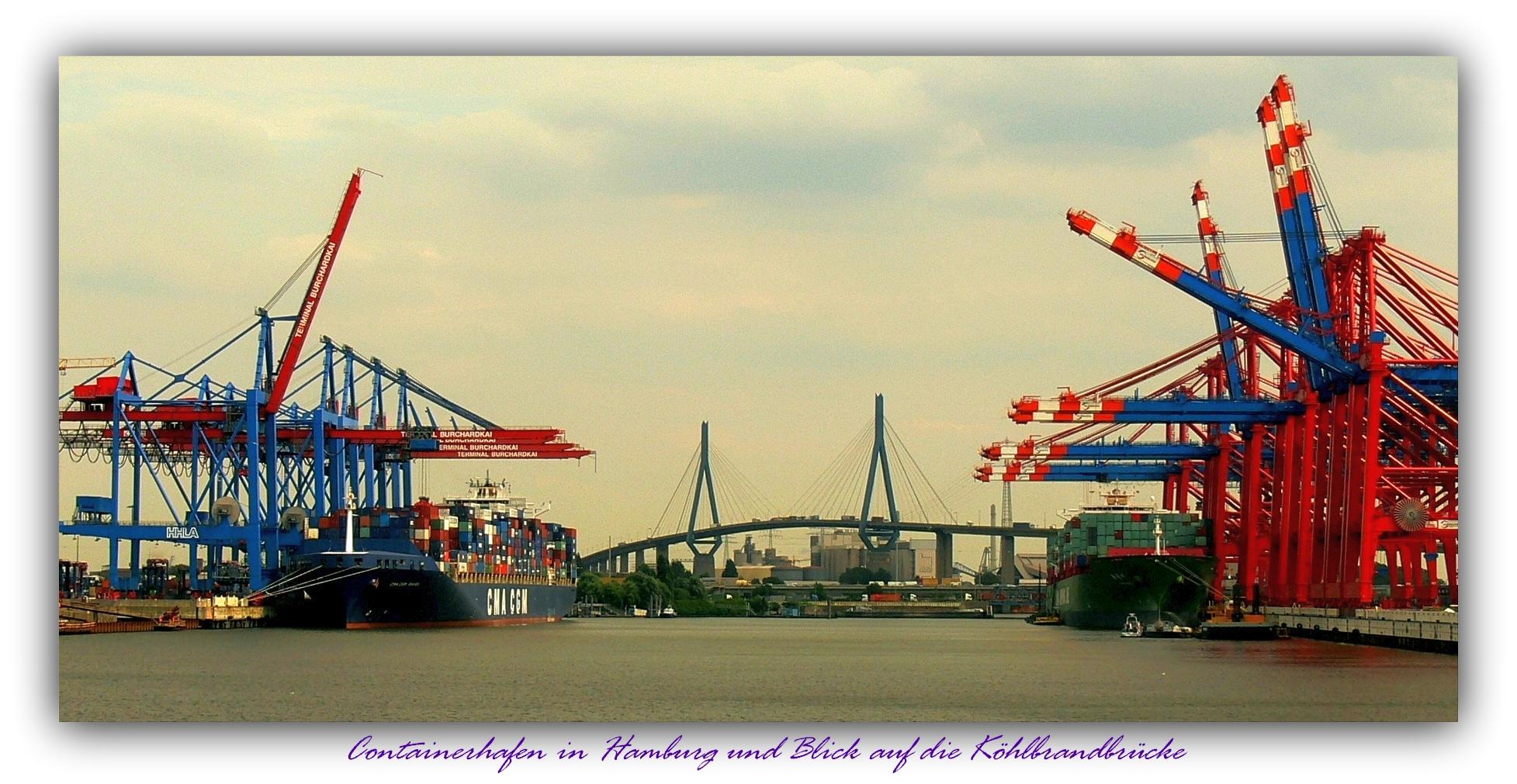 Containerhafen - Köhlbrandbrücke