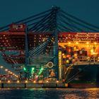 """Containerschiff beim """"löschen"""""""