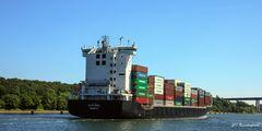 Containerschiff Flottbek von achtern......
