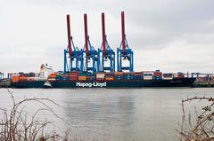 Containerschiff Kobe Express wird gedreht #7