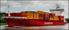 Containerships 6 auf der Fahrt nach Helsinki